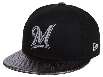 Milwaukee Brewers New Era MLB Snakeskin Sleek 59FIFTY Cap