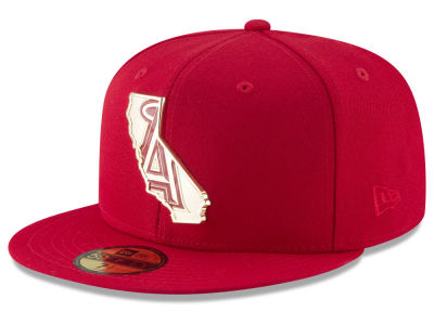 Los Angeles Angels New Era MLB Gold Stated 59FIFTY Cap