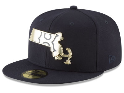 Boston Red Sox New Era MLB Gold Stated 59FIFTY Cap