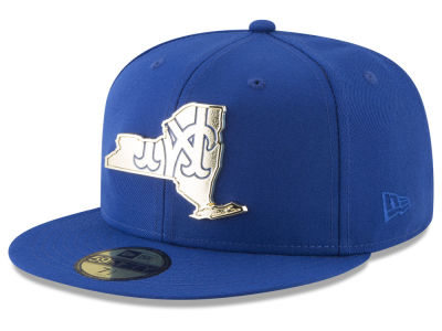 New York Mets New Era MLB Gold Stated 59FIFTY Cap