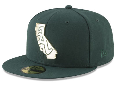 Oakland Athletics New Era MLB Gold Stated 59FIFTY Cap
