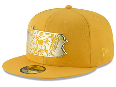 Pittsburgh Pirates New Era MLB Gold Stated 59FIFTY Cap
