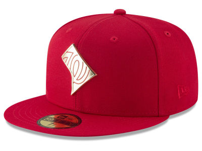 Washington Nationals New Era MLB Gold Stated 59FIFTY Cap