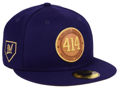 Milwaukee Brewers New Era MLB Area Patch 59FIFTY Cap