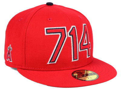 Los Angeles Angels New Era MLB Area Code 59FIFTY Cap