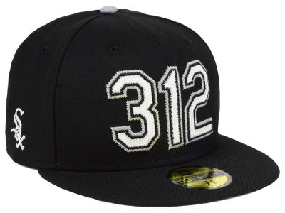 Chicago White Sox New Era MLB Area Code 59FIFTY Cap