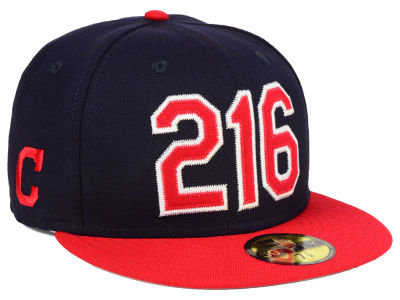 Cleveland Indians New Era MLB Area Code 59FIFTY Cap