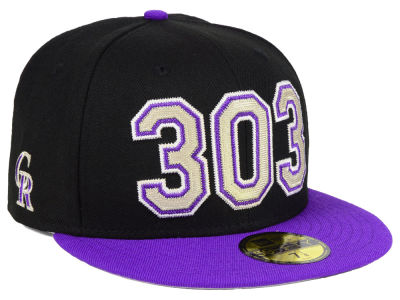 Colorado Rockies New Era MLB Area Code 59FIFTY Cap