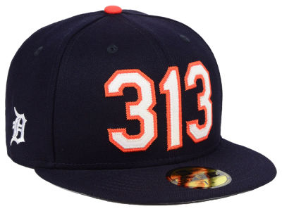 Detroit Tigers New Era MLB Area Code 59FIFTY Cap