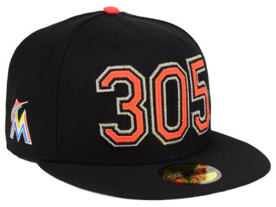 Miami Marlins New Era MLB Area Code 59FIFTY Cap