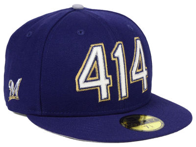 Milwaukee Brewers New Era MLB Area Code 59FIFTY Cap