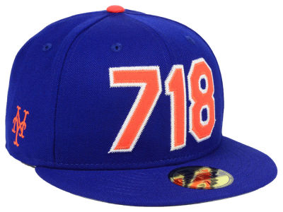 New York Mets New Era MLB Area Code 59FIFTY Cap