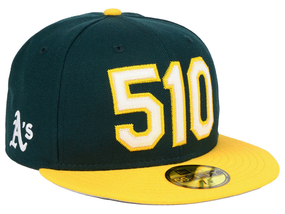 Oakland Athletics New Era MLB Area Code 59FIFTY Cap  491582734e6f