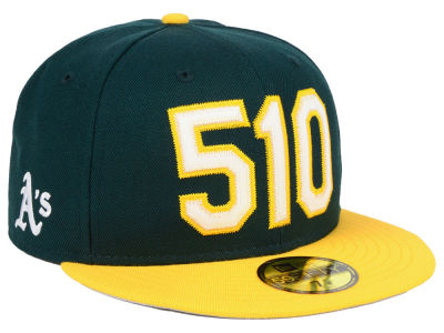 Oakland Athletics New Era MLB Area Code 59FIFTY Cap