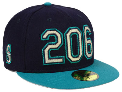 Seattle Mariners New Era MLB Area Code 59FIFTY Cap