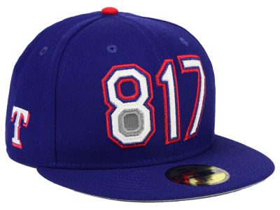 Texas Rangers New Era MLB Area Code 59FIFTY Cap