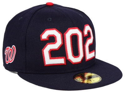 Washington Nationals New Era MLB Area Code 59FIFTY Cap