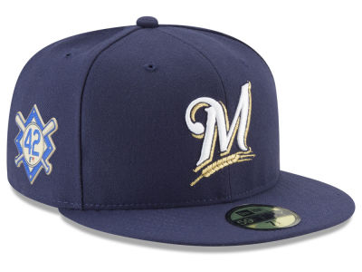 Milwaukee Brewers Jackie Robinson MLB 2018 59FIFTY Cap