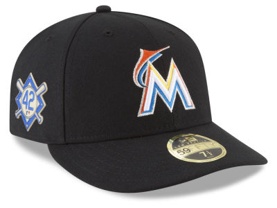 Miami Marlins Jackie Robinson MLB 2018 Low Profile 59FIFTY Cap