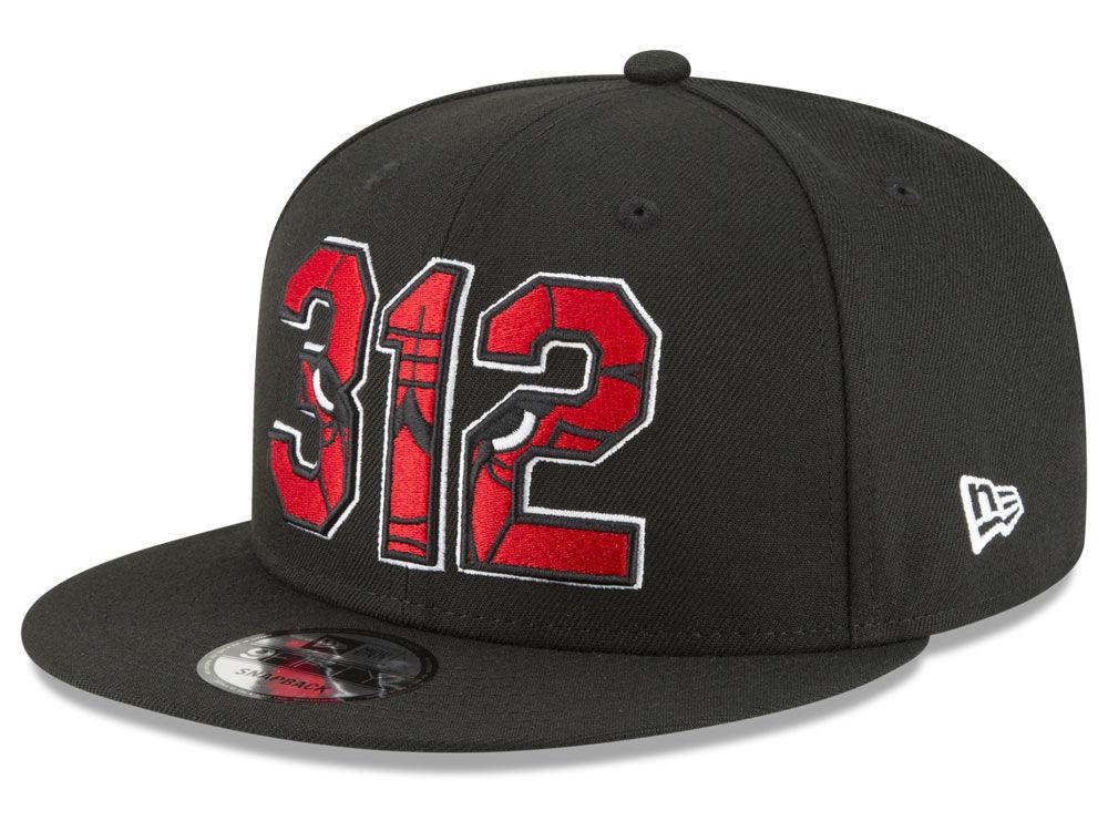 Chicago Bulls New Era NBA Area Code 9FIFTY Snapback Cap  9796a255b97