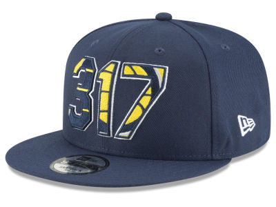 Indiana Pacers New Era NBA Area Code 9FIFTY Snapback Cap