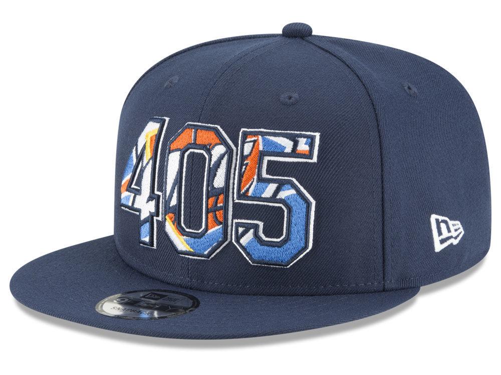 Oklahoma City Thunder New Era NBA Area Code 9FIFTY Snapback Cap ... 5ea493626697