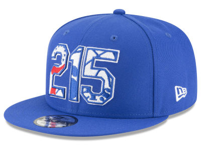 Philadelphia 76ers New Era NBA Area Code 9FIFTY Snapback Cap