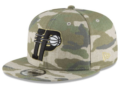 Indiana Pacers New Era NBA Combo Camo 9FIFTY Snapback Cap