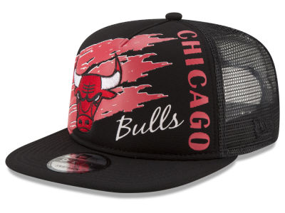 Chicago Bulls New Era NBA Swipe Trucker 9FIFTY Snapback Cap