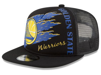 Golden State Warriors New Era NBA Swipe Trucker 9FIFTY Snapback Cap