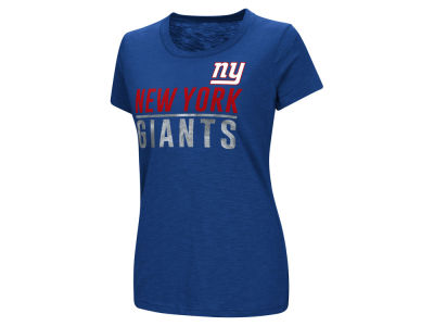 New York Giants G-III Sports NFL Women's Dynasty Stacked Glitter T-Shirt