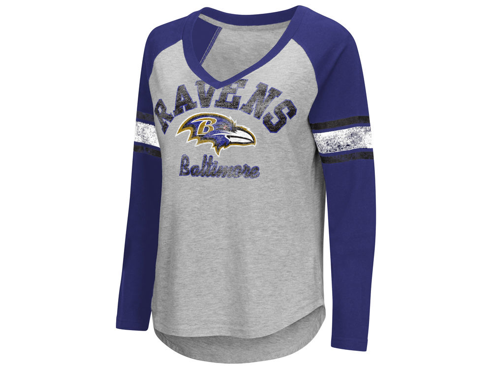 5ccde989c Baltimore Ravens G-III Sports NFL Women s Sideline Long Sleeve T-Shirt