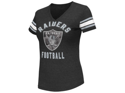 Oakland Raiders G-III Sports NFL Women's Wildcard Bling T-Shirt