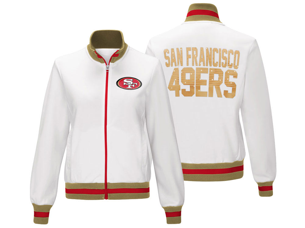 San Francisco 49ers G-III Sports NFL Women s Field Goal Track Jacket ... e04fd198fe