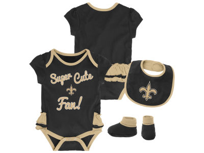 New Orleans Saints NFL Newborn Girls Trifecta Set