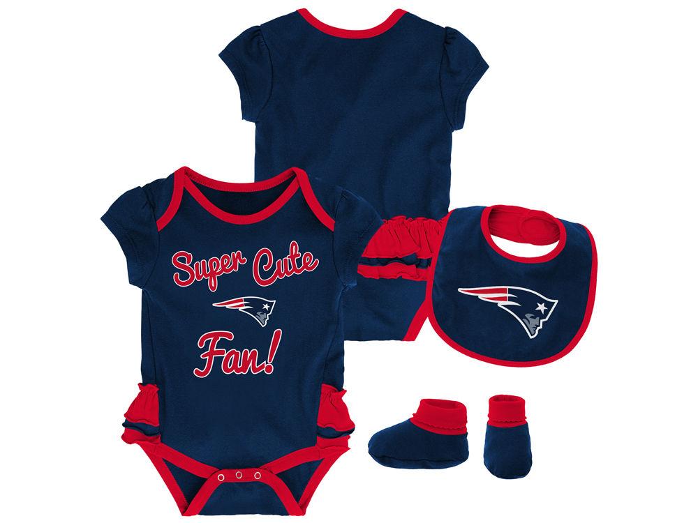 New England Patriots NFL Newborn Girls Trifecta Set  e21adf143