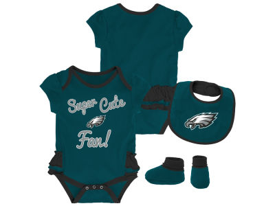 236acd3a6 Philadelphia Eagles NFL Newborn Girls Trifecta Set
