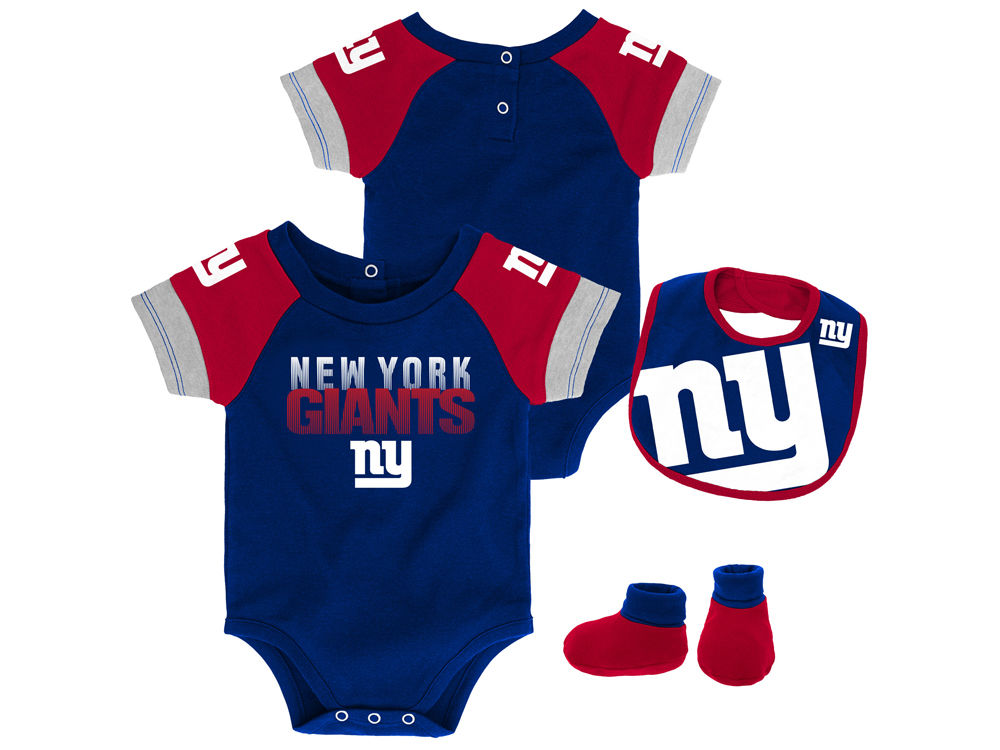 feaab4444 New York Giants Outerstuff NFL Newborn Dash Bib   Bootie Set