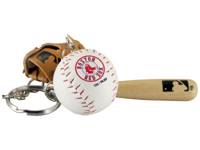 Boston Red Sox Baseball Trio Keychain