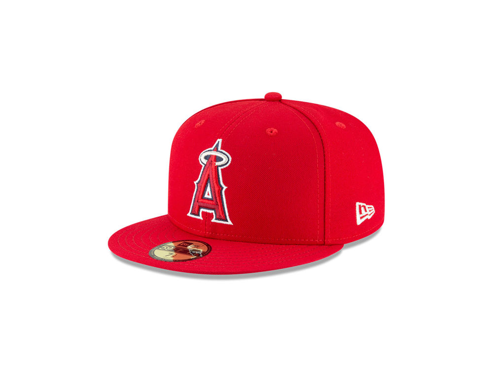 Los Angeles Angels New Era MLB Authentic Collection 59FIFTY Cap ... 72cbb42b25c