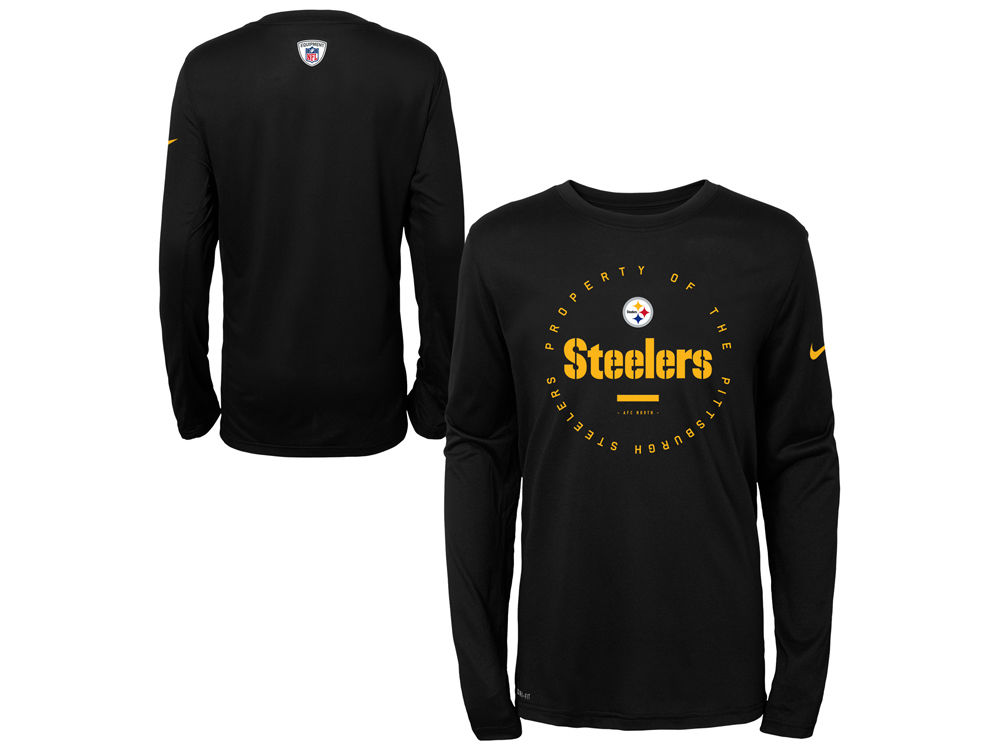 Pittsburgh Steelers Nike NFL Youth Prop Of Long Sleeve T-Shirt ... 7ab5ebaca