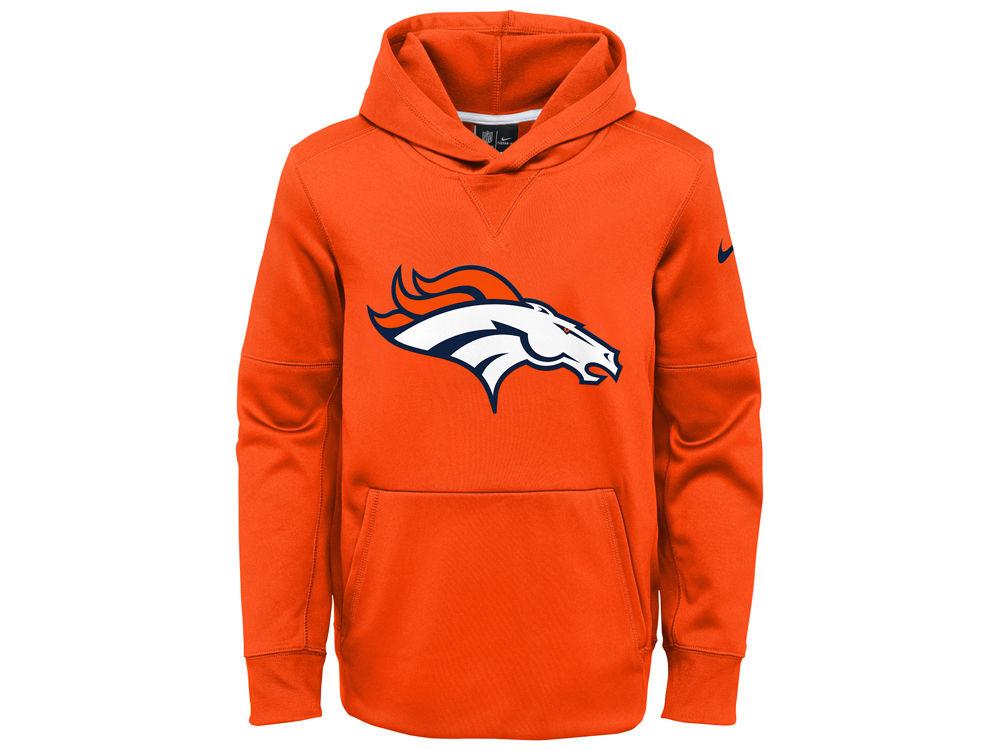 1396e4c46 Denver Broncos Nike NFL Youth Circuit Logo Hoodie