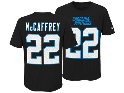 Carolina Panthers Christian McCaffrey Nike NFL Youth Pride Name and Number 3.0 T-Shirt
