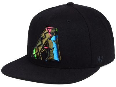 Arizona Diamondbacks '47 MLB Camfill Neon Snapback Cap