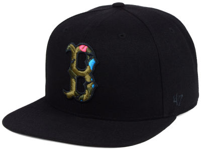 Boston Red Sox '47 MLB Camfill Neon Snapback Cap