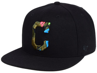 Cleveland Indians '47 MLB Camfill Neon Snapback Cap