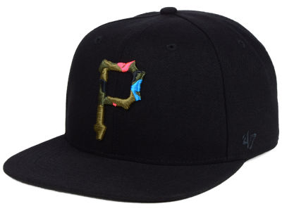 Pittsburgh Pirates '47 MLB Camfill Neon Snapback Cap