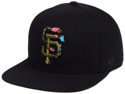 San Francisco Giants '47 MLB Camfill Neon Snapback Cap