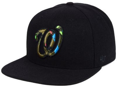 Washington Nationals '47 MLB Camfill Neon Snapback Cap
