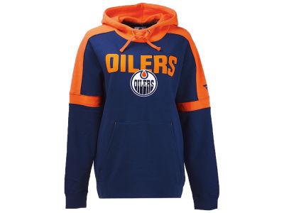 Edmonton Oilers NHL Branded NHL Men's Iconic Color Blocked Pullover Hoodie